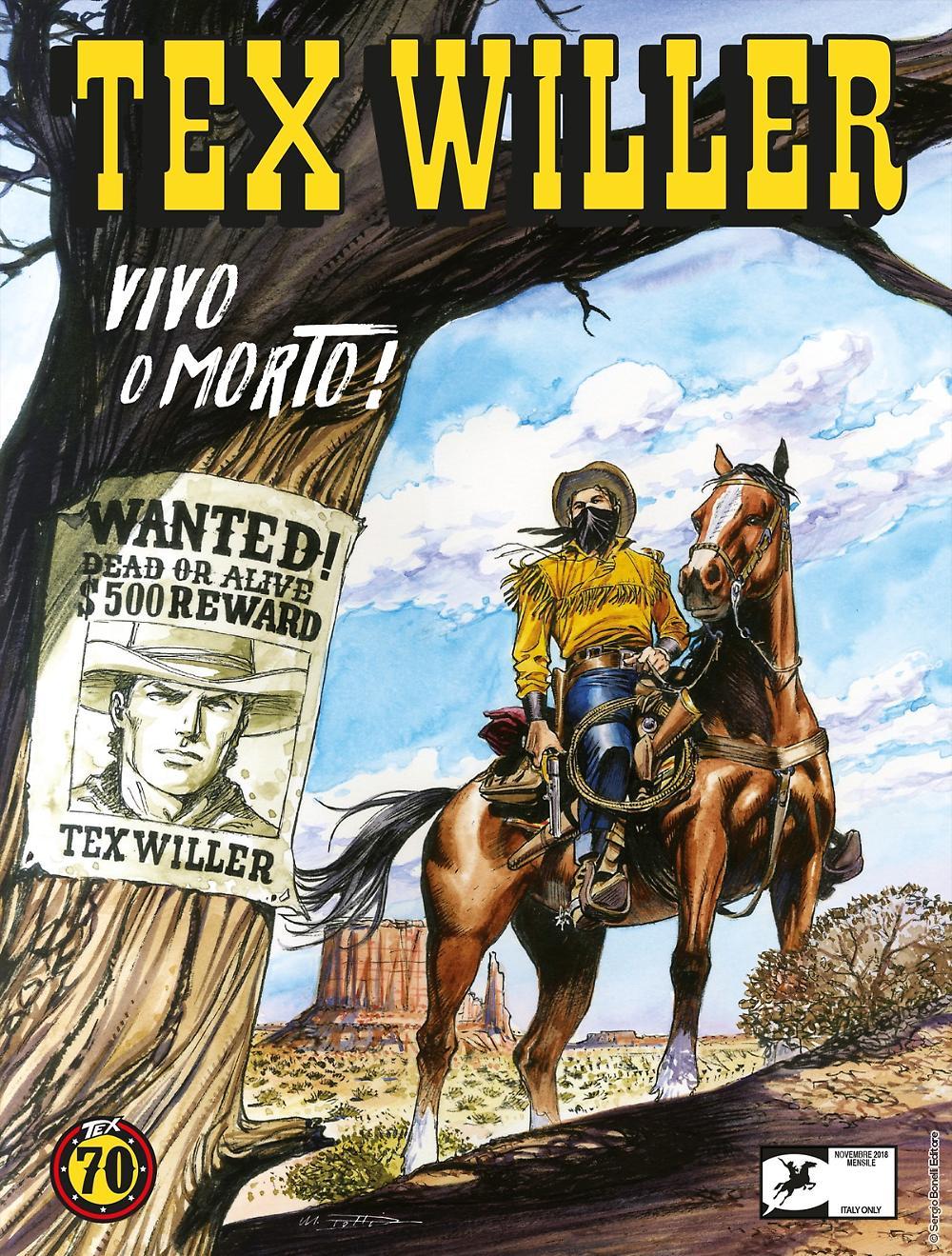 Tex Willer 1: Vivo o morto!, copertina di Maurizio Dotti
