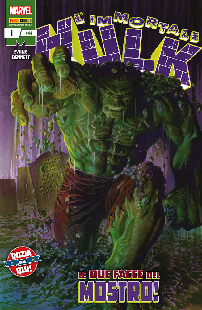 L'Immortale Hulk 1, copertina di Alex Ross