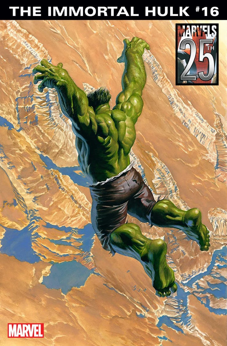 Immortal Hulk #16, variant cover di Alex Ross