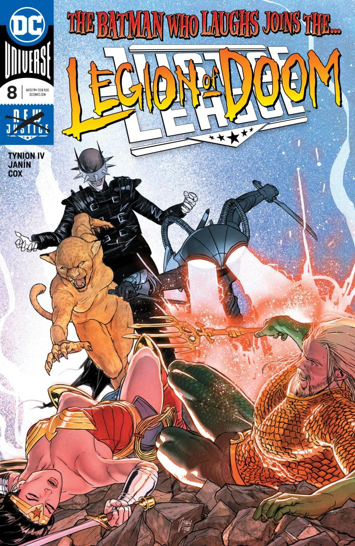 Justice League #8, copertina di Mikel Janin
