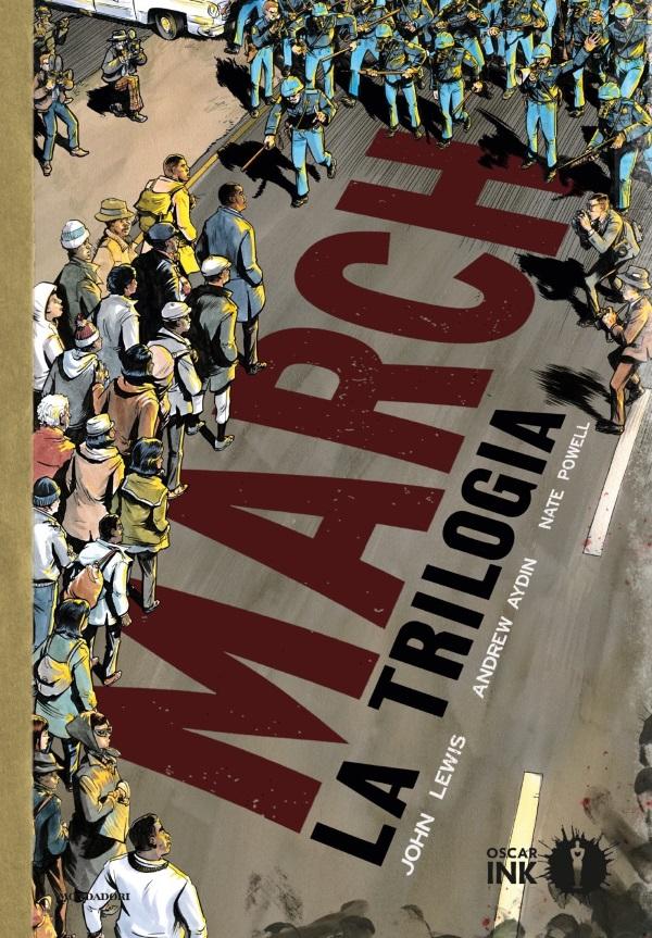 March - La Trilogia, copertina di Nate Powell