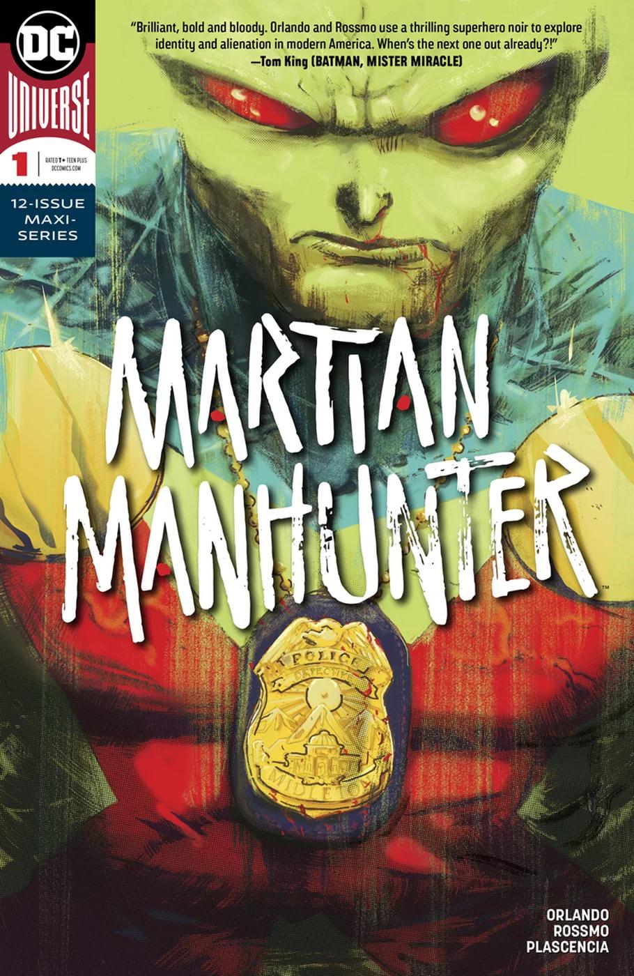 Martian Manhunter #1, copertina di Riley Rossmo