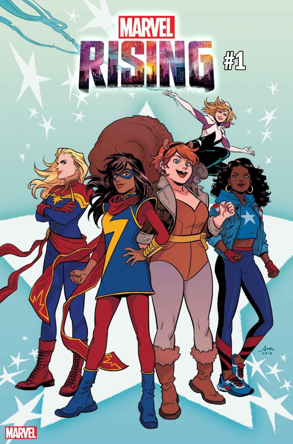 Marvel Rising #1, copertina di Audrey Mok