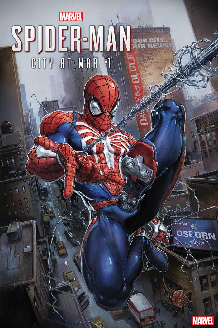 Spider-Man: City at War #1, copertina di Clayton Crain