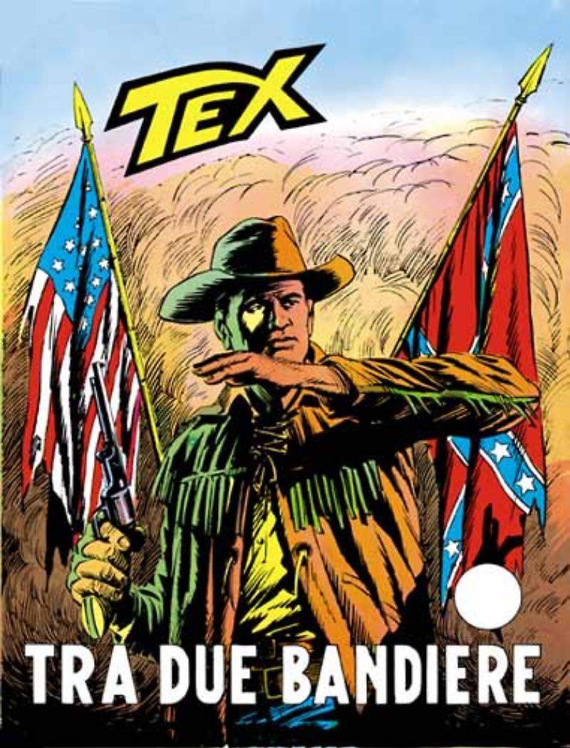 Tex 113: Tra due bandiere, copertina di Aurelio Galleppini