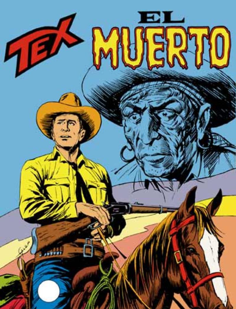Tex 190: El Muerto, copertina di Aurelio Galleppini