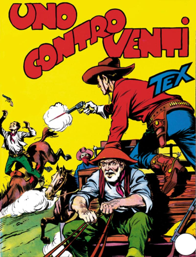 Tex 2: Uno contro venti, copertina di Aurelio Galleppini