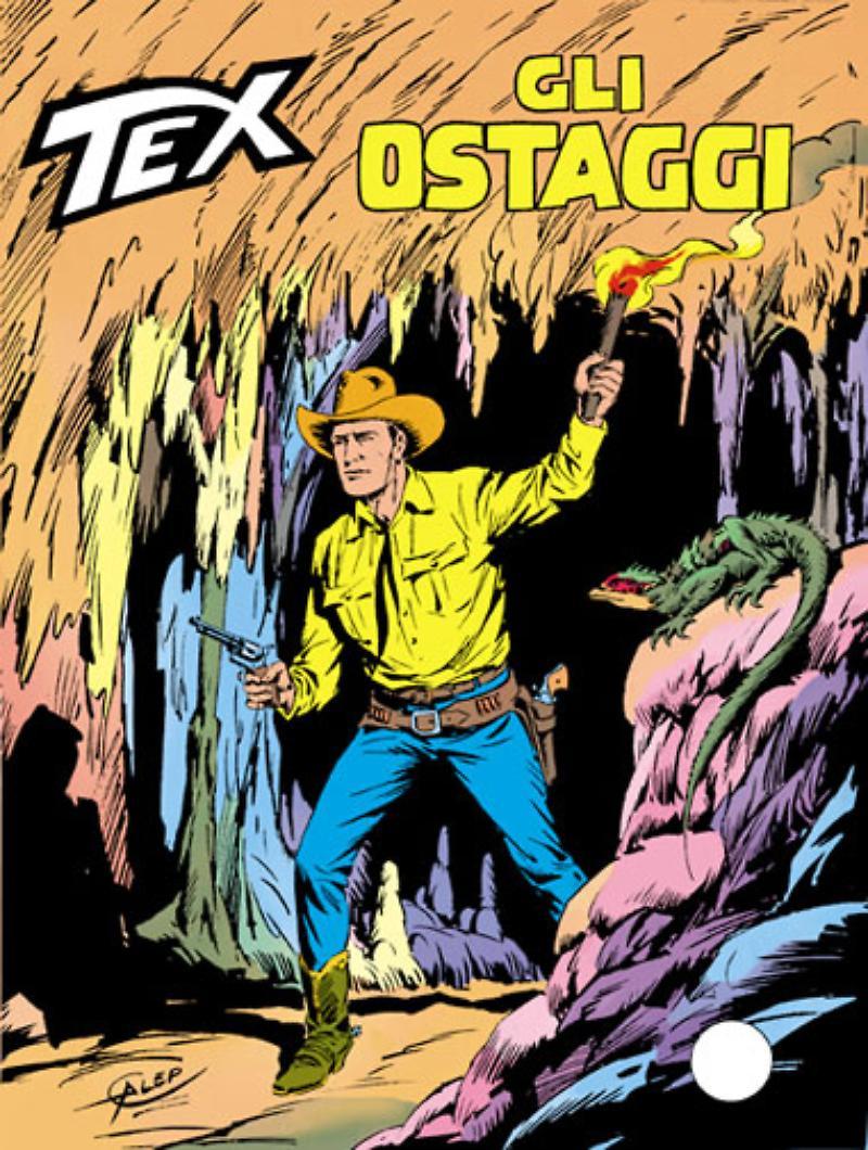 Tex 293: Gli ostaggi, copertina di Aurelio Galleppini