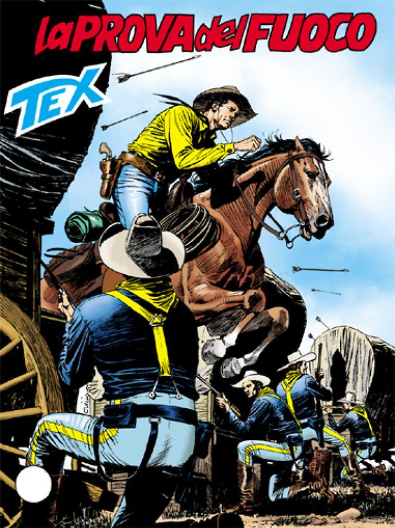 Tex 598: La prova del fuoco, copertina di Claudio VIlla