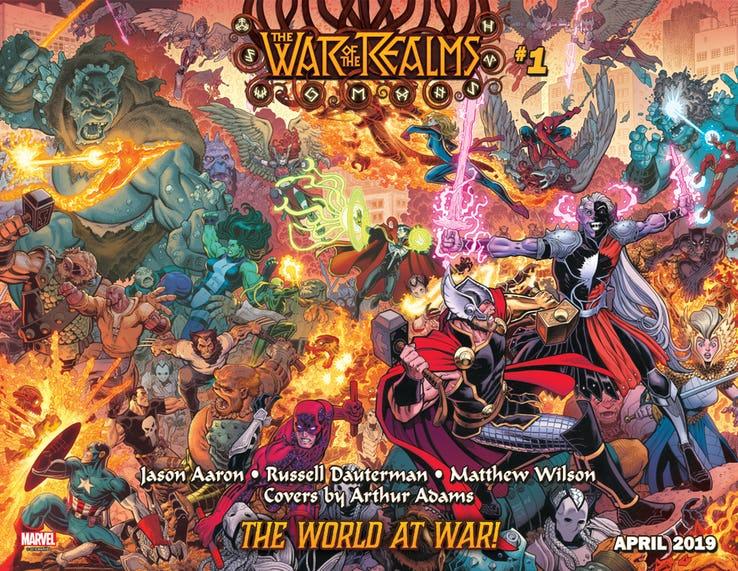 War of the Realms #1, copertina di Arthur Adams