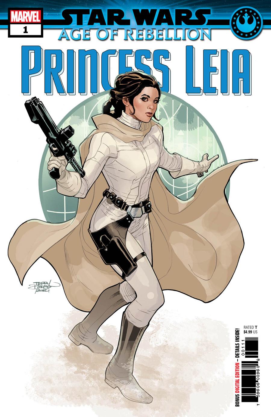 Star Wars: Age of Rebellion - Princess Leia #1, copertina di Terry Dodson