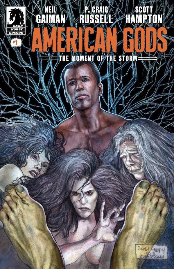 American Gods: The Moment of the Storm, copertina di Glenn Fabry