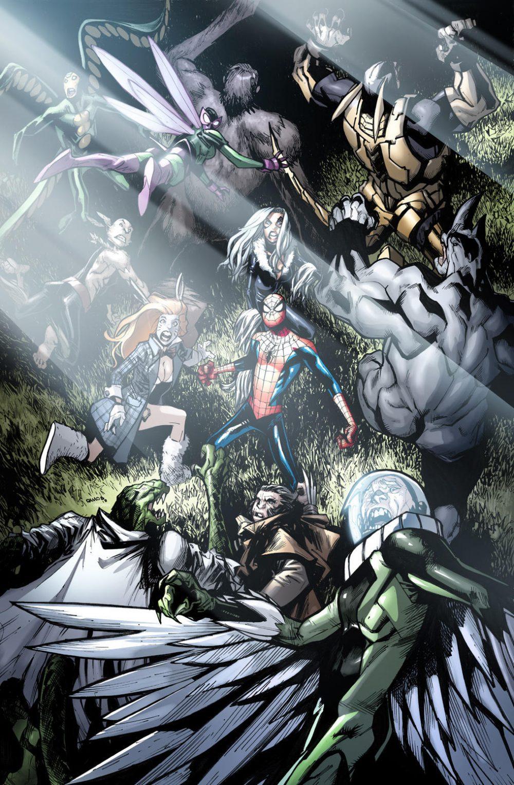 Amazing Spider-Man #18, copertina di Humberto Ramos