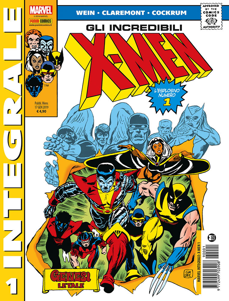 X-Men di Chris Claremont 1, copertina di Dave Cockrum