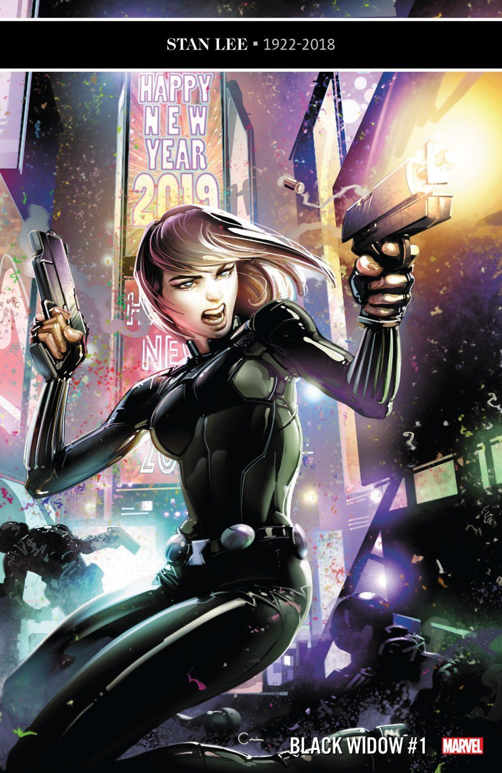 Black Widow #1, copertina di Clayton Crain
