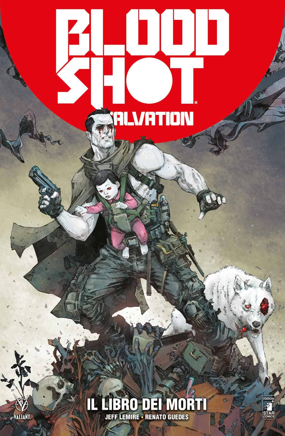Bloodshot Salvation vol. 2: Il libro dei morti, copertina di Kenneth Rocafort