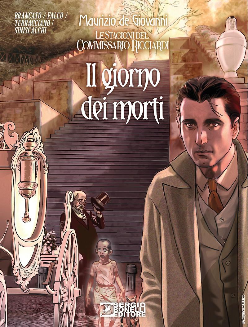 Le stagioni del Commissario Ricciardi vol. 4: Il giorno dei morti, copertina di Daniele Bigliardo