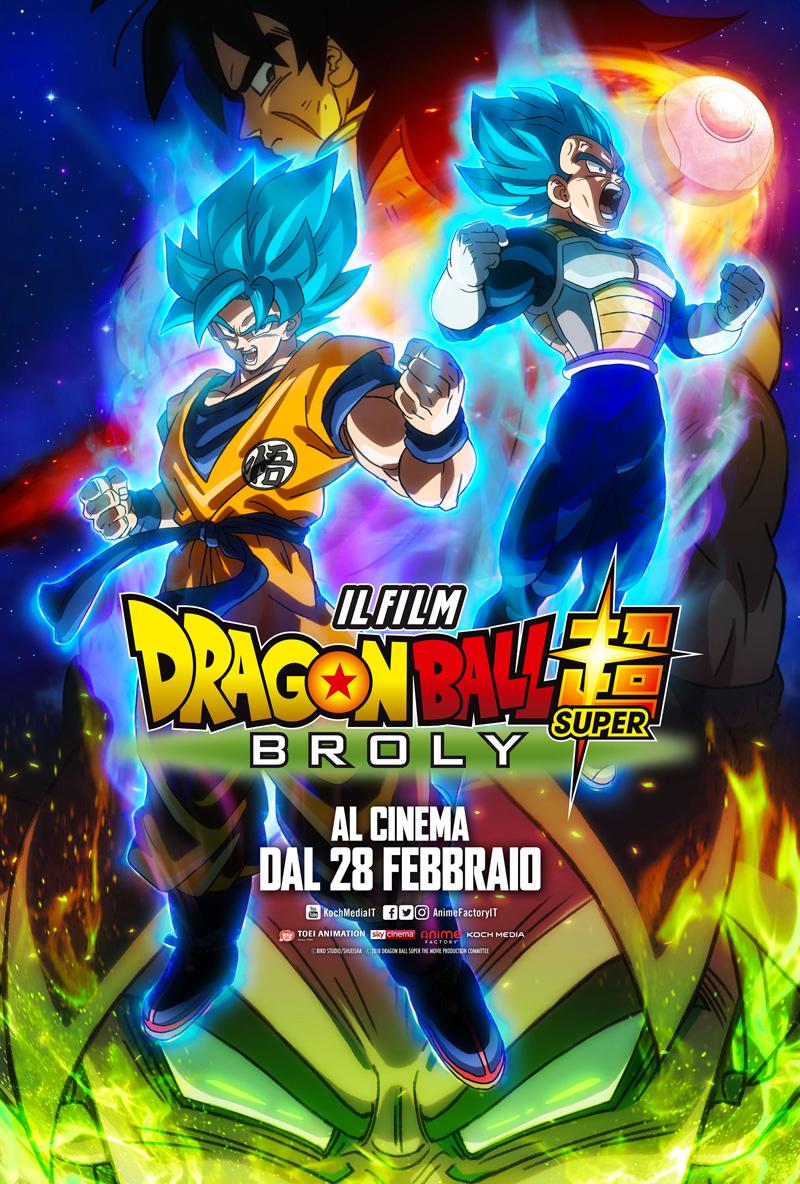 Dragon Ball Super: Broly, locandina italiana