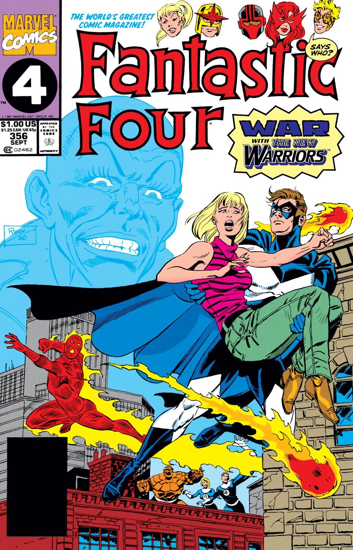Fantastic Four #356, copertina di Paul Ryan