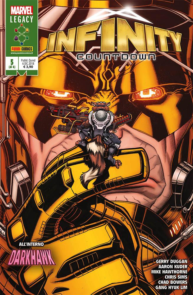 Infinity Countdown 5, copertina di Nick Bradshaw