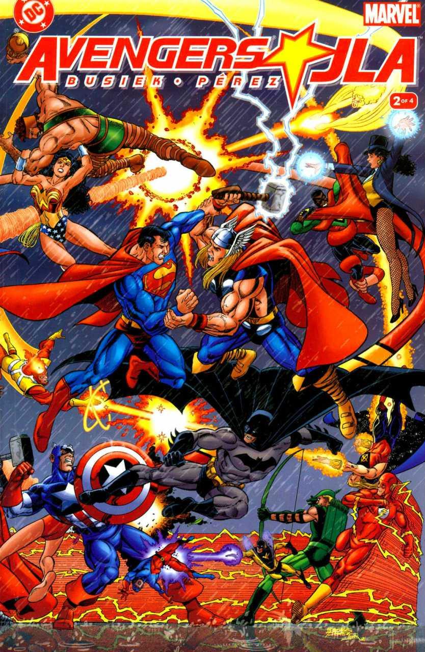 JLA/Avengers #2, copertina di George Pérez