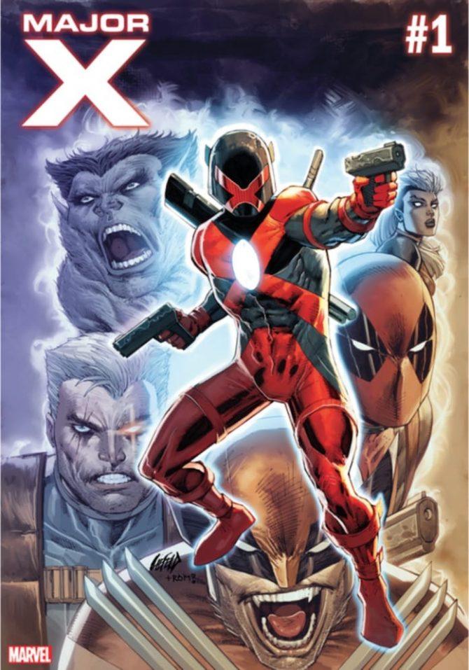 Major X #1, copertina di Rob Liefeld
