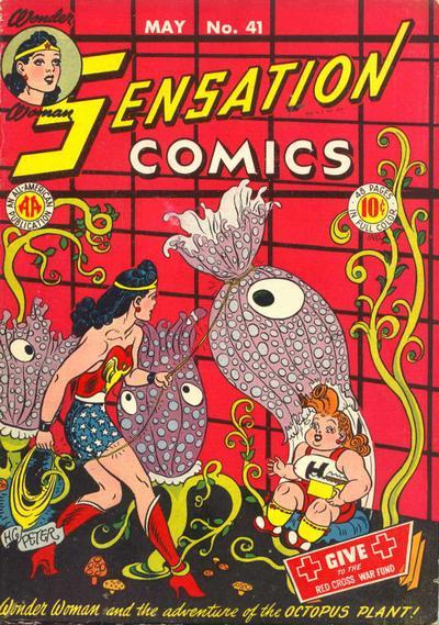 Sensation Comics #41, copertina di Harry G. Peter