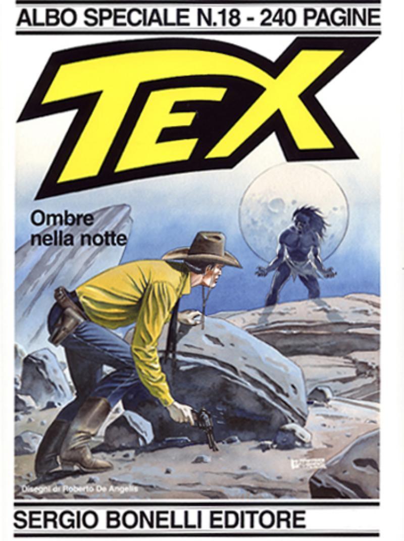 Tex Spceiale 18: Ombre nella notte, copertina di Roberto De Angelis