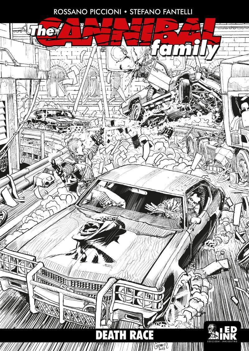 The Cannibal Family 16: Death Race, copertina di Carlos Gomez