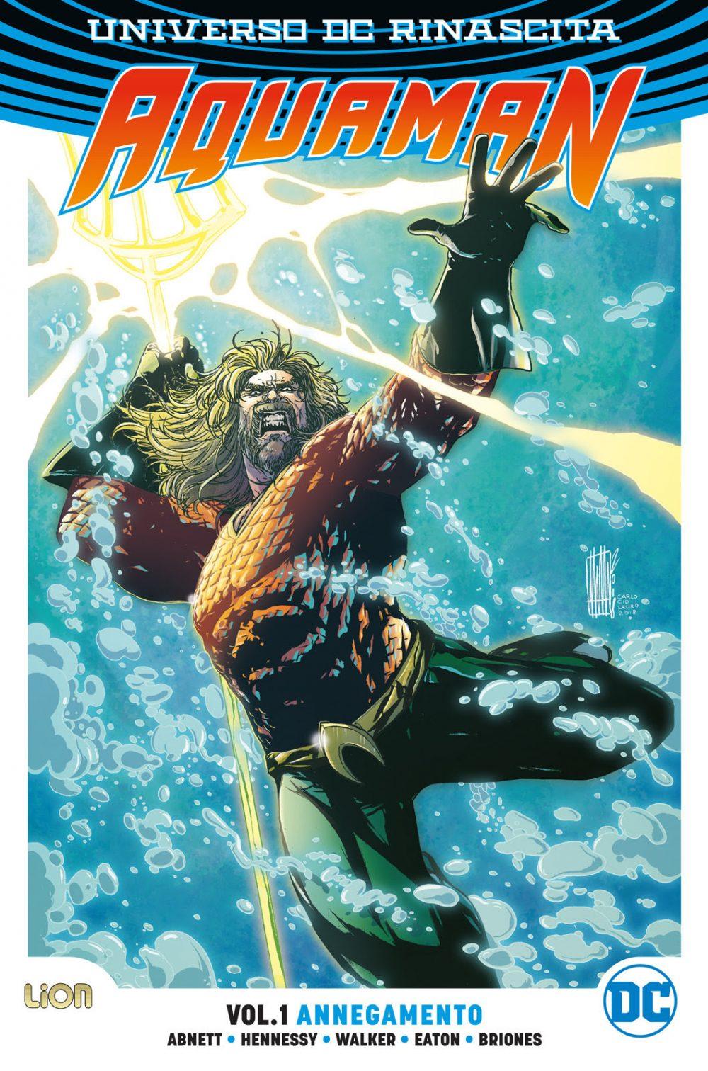 Aquaman vol. 1: Annegamento, copertina di Alessandro Vitti