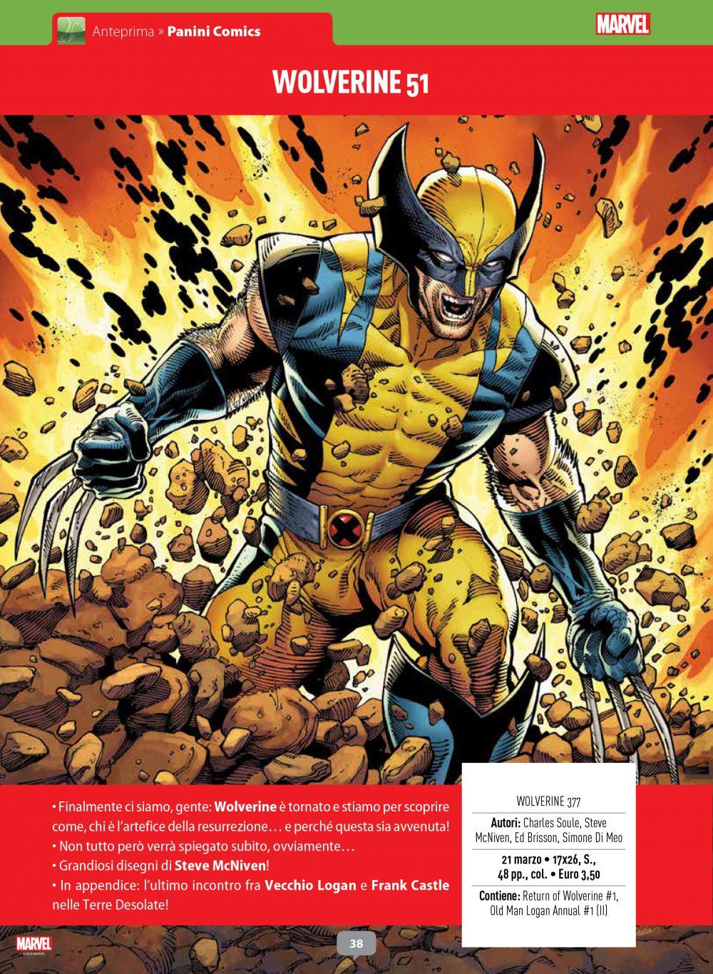 Wolverine su Anteprima