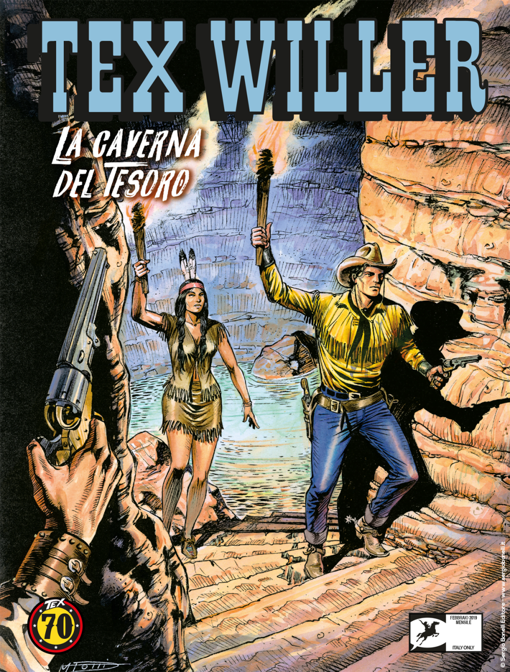 Tex Willer 4: La caverna del tesoro, copertina di Maurizio Dotti