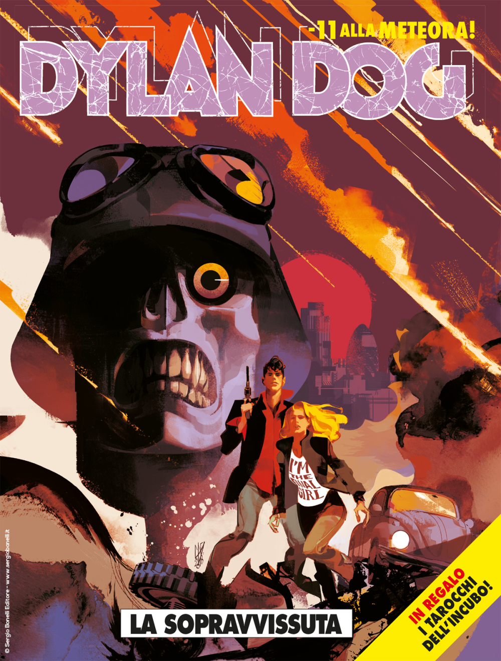 Dylan Dog 389: La sopravvissuta, copertina di Gigi Cavenago