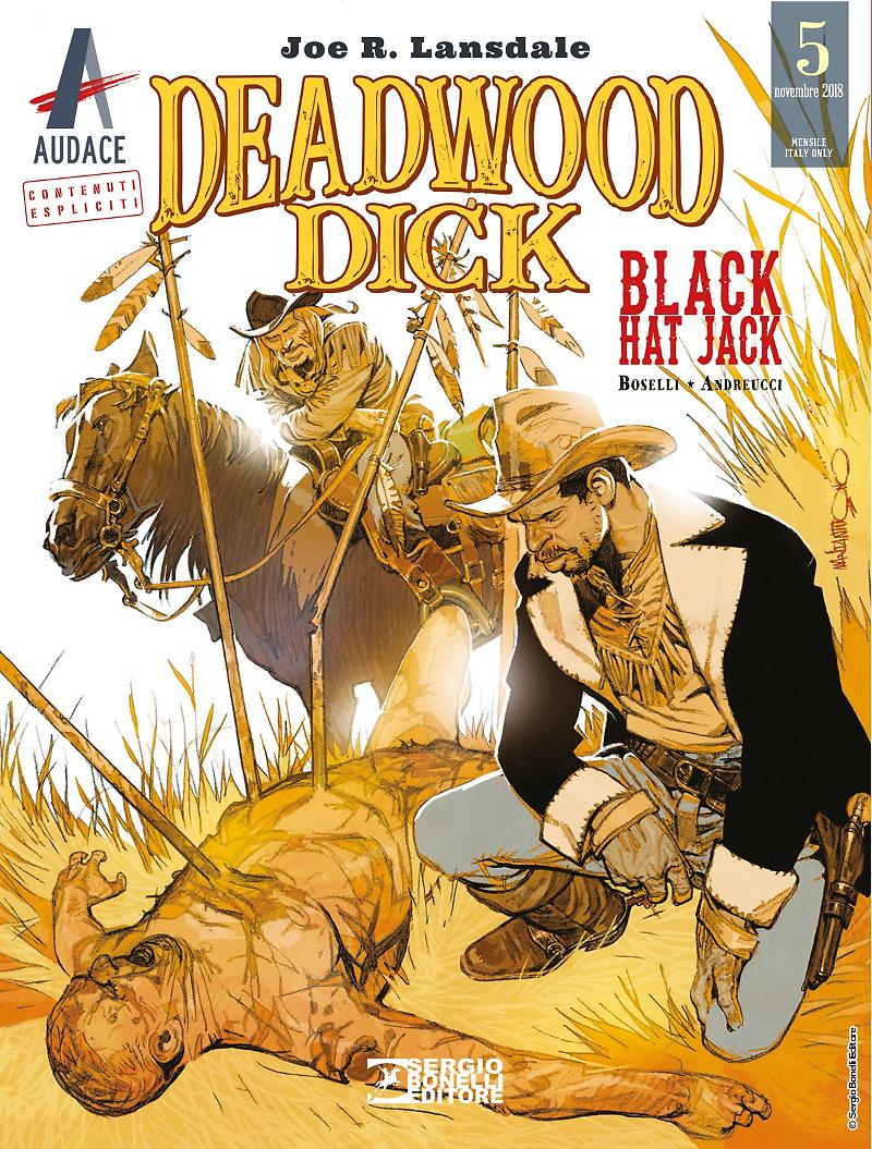Deadwood Dick 5: Black Hat Jack, copertina di Corrado Mastantuono