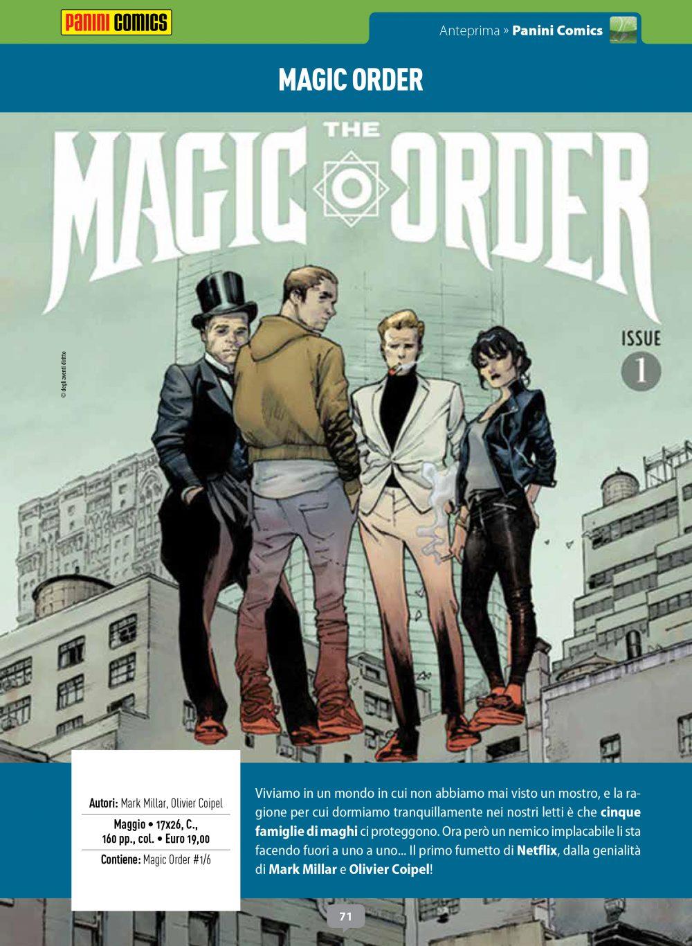Magic Order su Anteprima