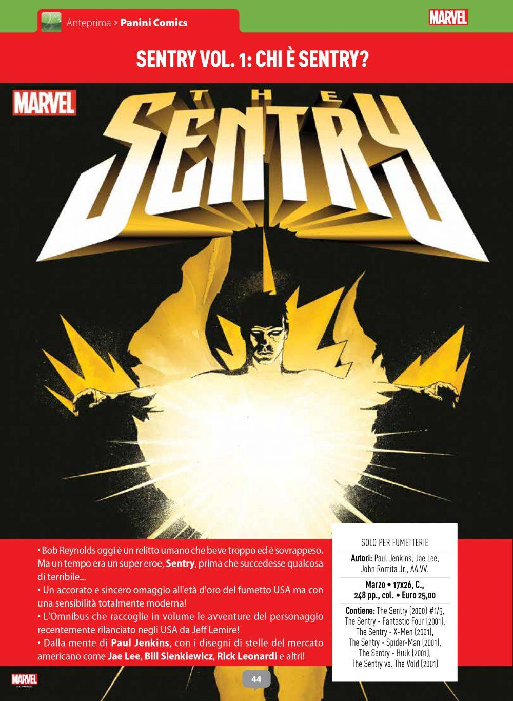 Sentry vol. 1 su Anteprima