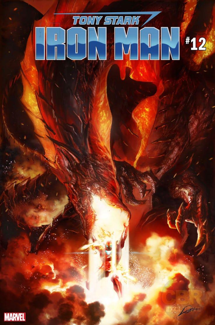 Tony Stark: Iron Man #12, copertina di Alexander Lozano
