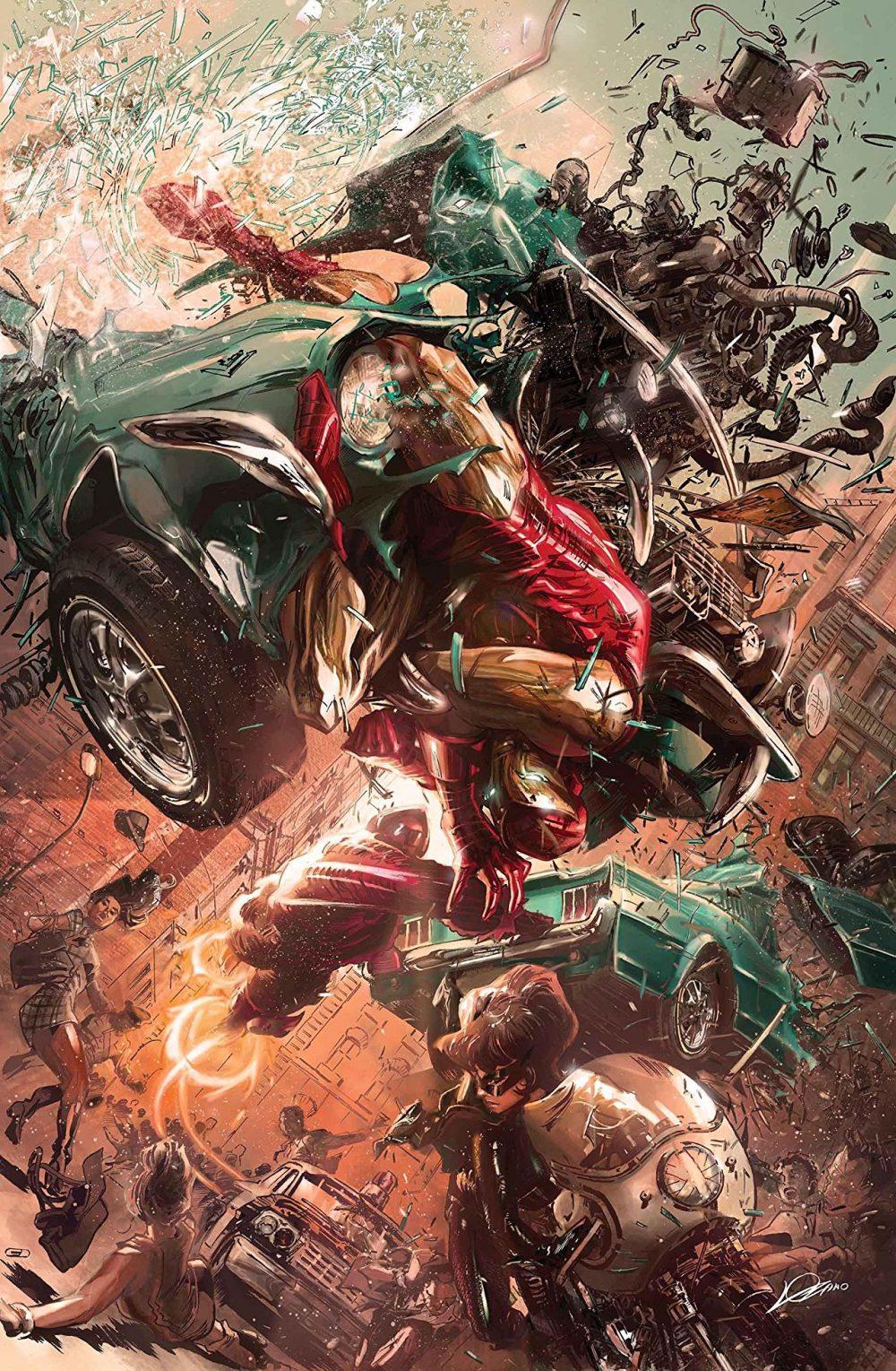 Tony Stark: Iron Man #9, copertina di Alexander Lozano