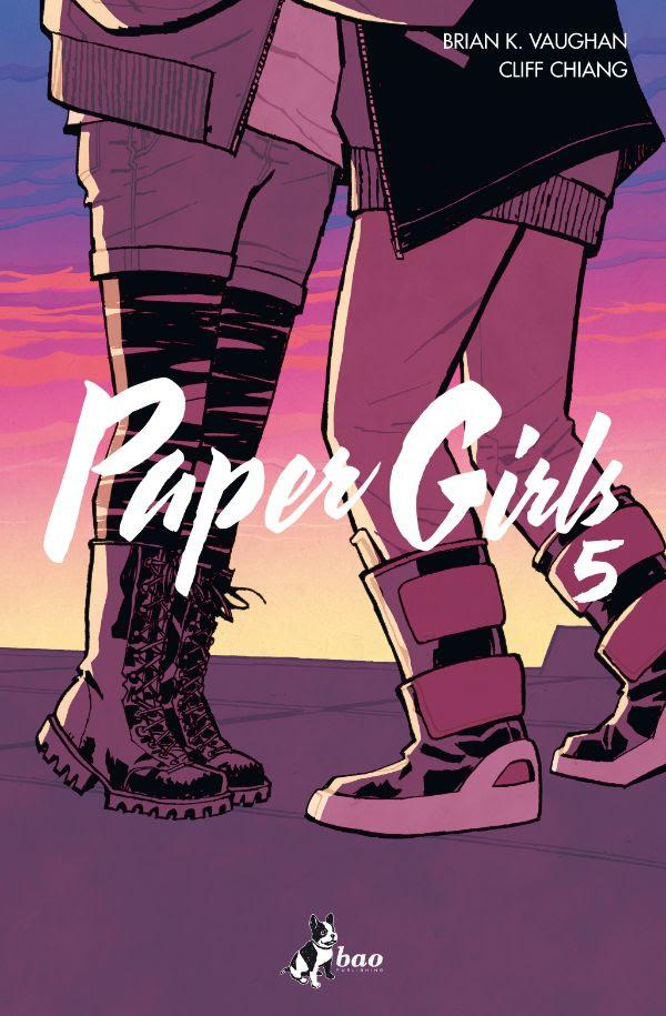 Paper Girls vol. 5, copertina di Cliff Chiang