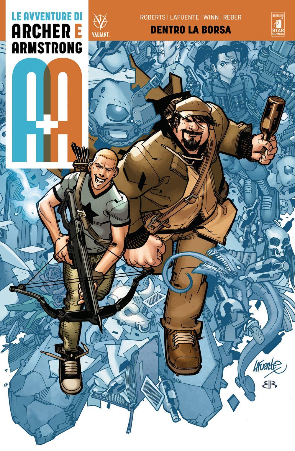 A+A - Le avventure di Archer e Armstrong vol. 1: Dentro la borsa, copertina di David Lafuente