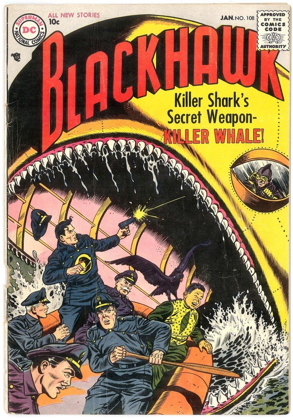 Blackhawk #108, copertina di Dick Dillin