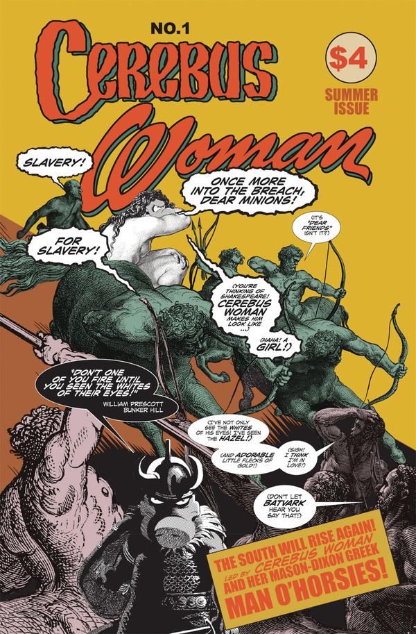 Cerebus Woman #1, copertina di Benjamin Hobbs
