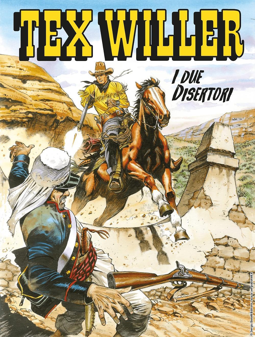 Tex Willer 5: I due disertori, copertina di Maurizio Dotti