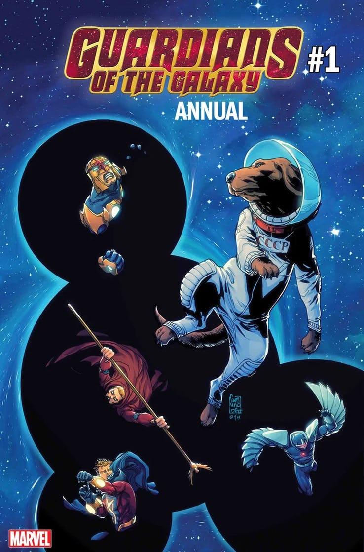 Guardians of the Galaxy Annual #1, copertina di Giuseppe Camuncoli