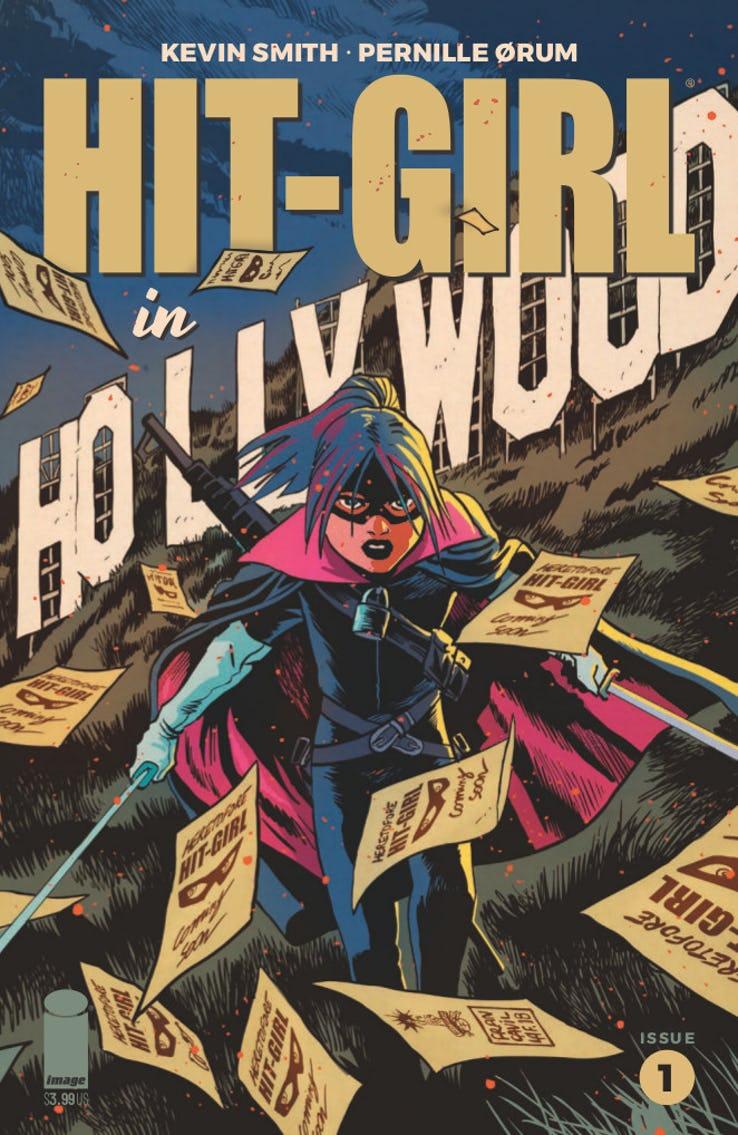 Hit-Girl: Golden Rage of Hollywood #1, copertina di Francesco Francavilla
