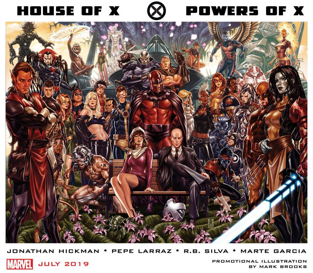 House of X e Powers of X #1, copertine di Mark Brooks