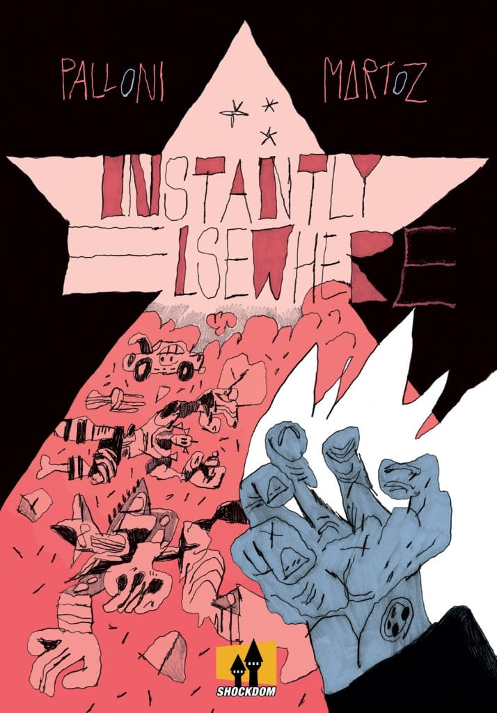 Instantly elsewhere, copertina di Martoz