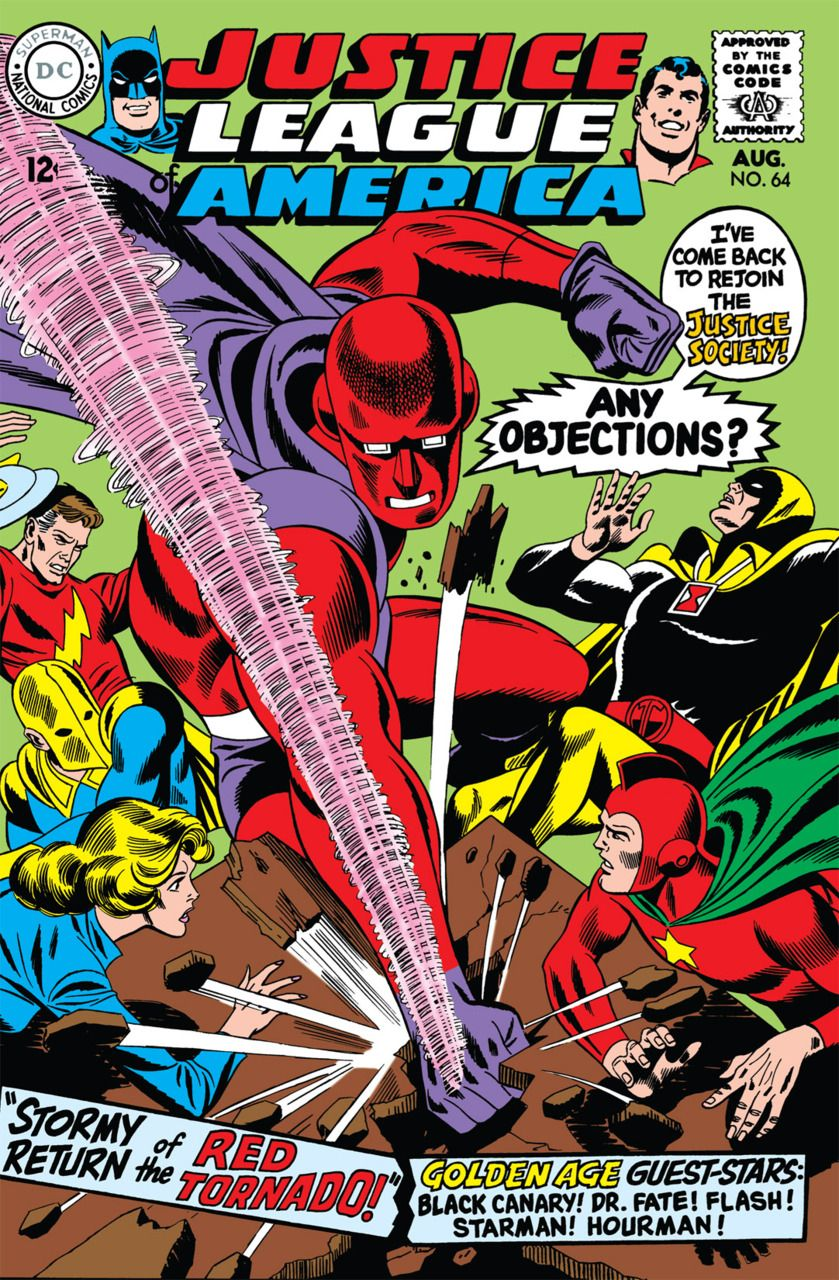 Justice League of America, copertina di Dick Dillin