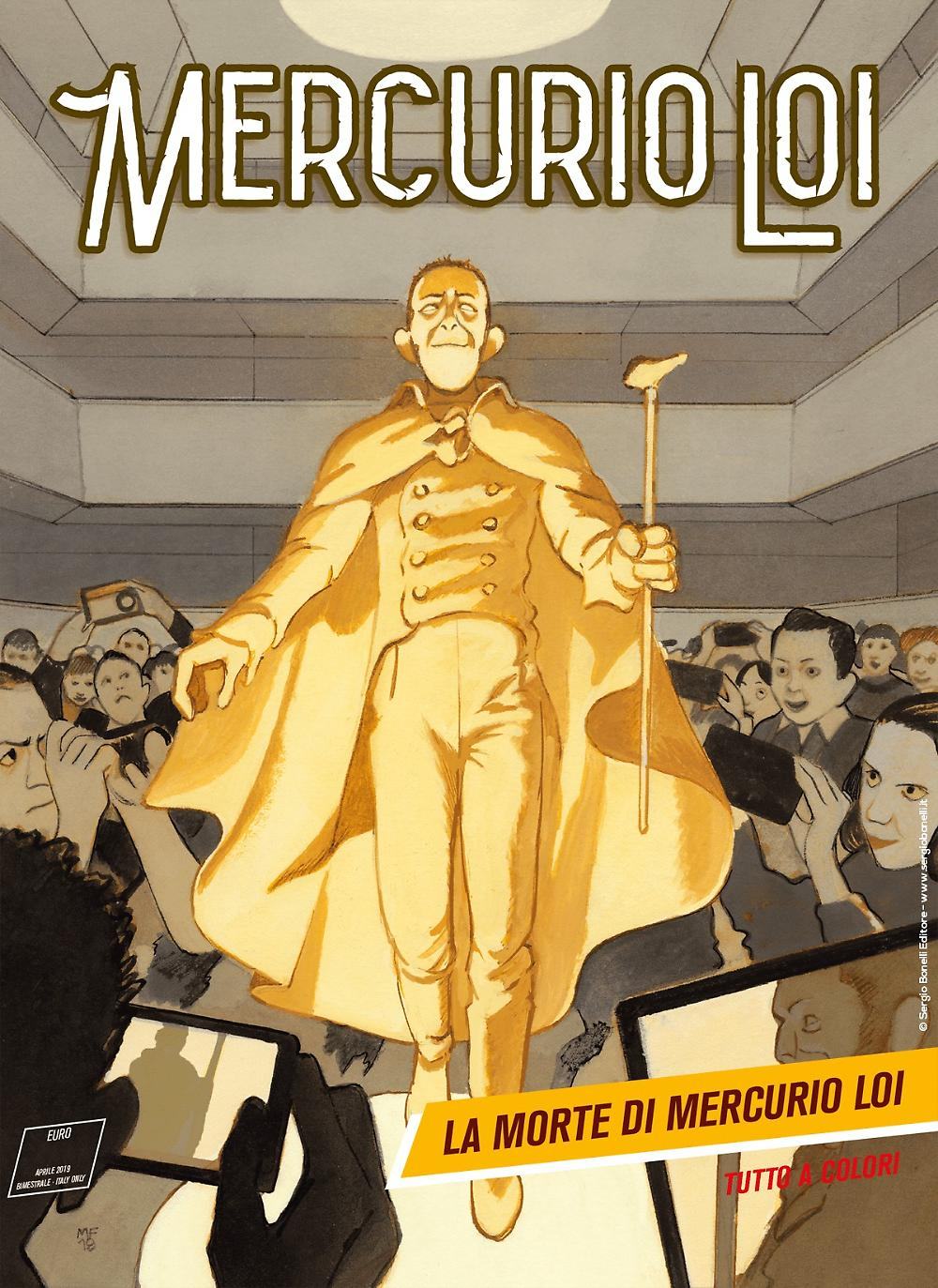Mercurio Loi 16: La morte di Mercurio Loi, copertina di Manuele Fior