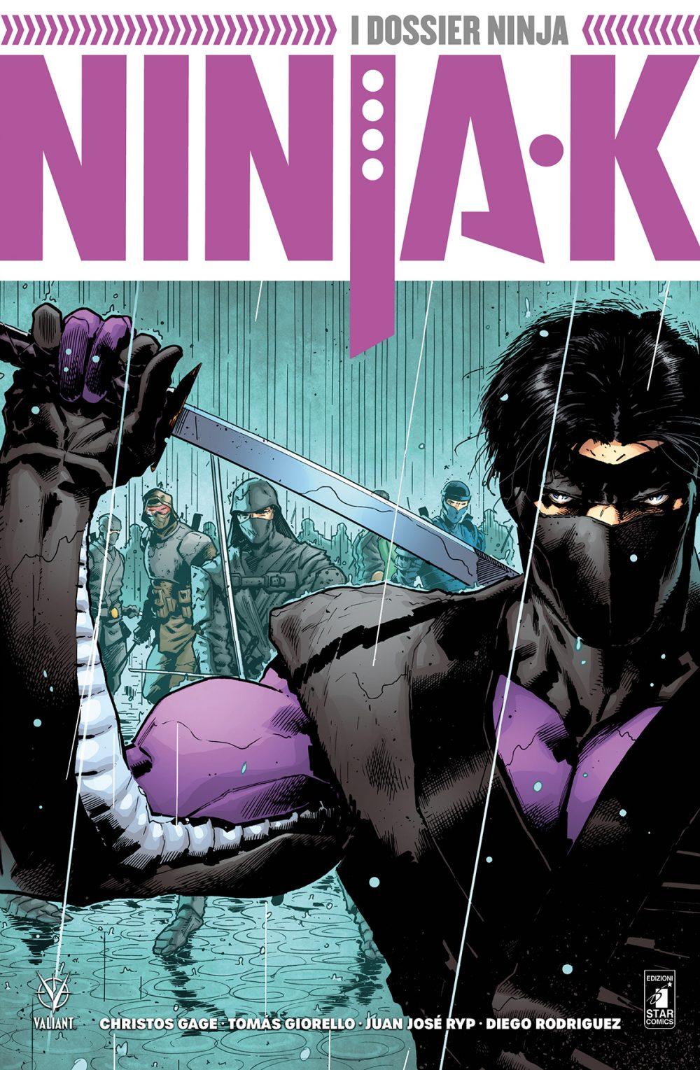 Ninja-K vol. 1: I dossier ninja, copertina di Trevor Hairsine